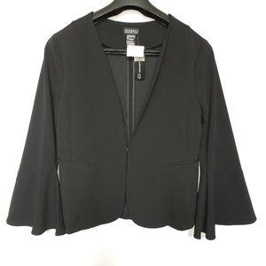 Dress Bell Sleeve Black Blazer XL SOHO NWTs